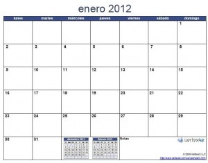 ... calendario 2012 para imprimir con espacio suficiente para poder hacer